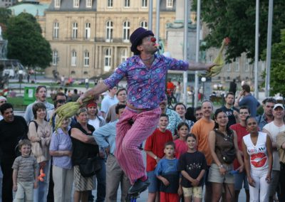 juggling on unicycle, festival entertainment