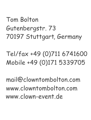 Kontakt Information Tom Bolton