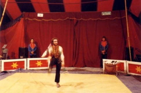 juggler Tom Bolton in Finland national circus