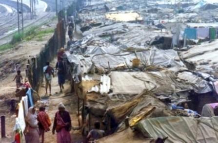 Delhi, India slums