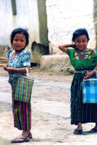 girls in Guatemala, world travel