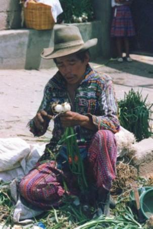 food vendor in Guatemala