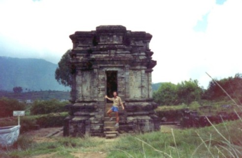 historical ruins temple Java, Indonesia