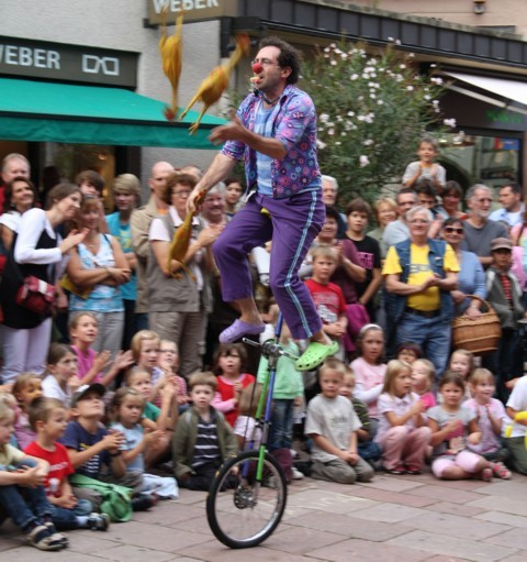 unicycling festival entertainment performance