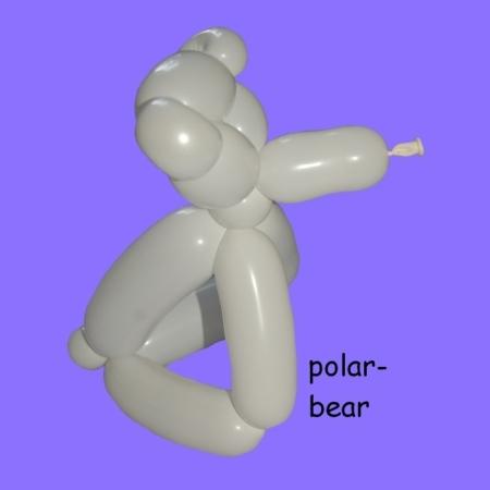 Polar bear balloon